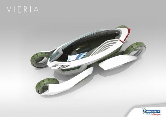 VIERIA Concept Car, Michelin Challenge Design, green transportation, alternative transportation, green automotive design, Gunwoong Kim, Suji Kim