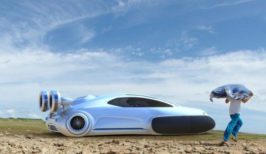 Volkswagen Aqua Hovercraft, Volkswagen Hovercraft Concept, Yuhan Zhang, hovercraft, hydrogen electric hybrid, green transportation, alternative transportation, green automotive design