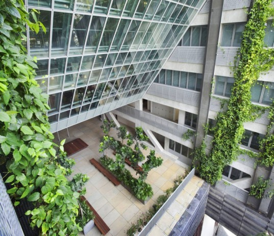 School of the Arts singapore, school of the arts, singapore schools, green schools, woha architects, green architecture, eco friendly schools, sustainable building, natural ventilation design, green roofs, green roofed schools