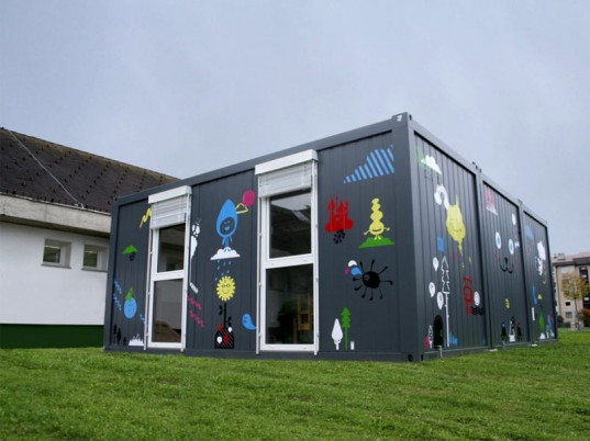 Shipping Container Transformed Into A Temporary
