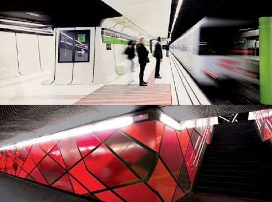 green design, art, subways, eco-design, sustainable design, archaeological sites, green transportation, sustainable transportation, Munich, Barcelona, North Korea, Stockhold Tunnelbana, Madrid, City Hall, Dubai, History
