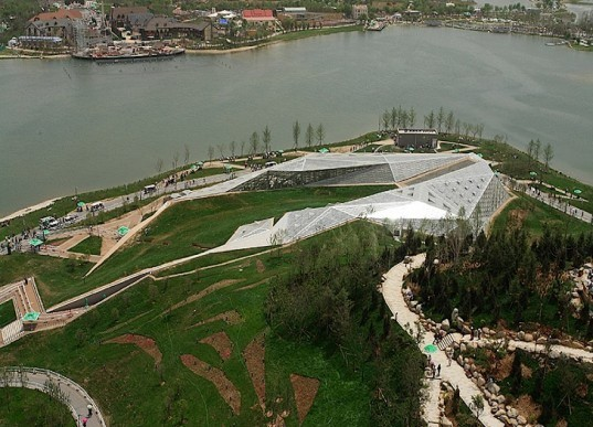 eco-design, green design, sustainable design, Xi'an Horticultural Expo 2011, Chan-ba ecological district, energy efficiency, greenhouse, China, reclaimed land , recovered ecosystem, landscape