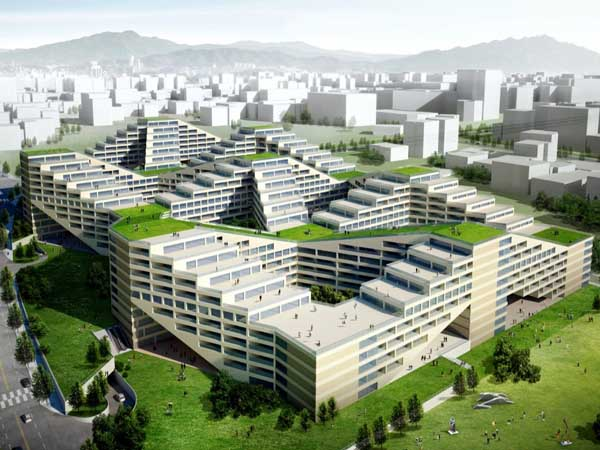 The Great Wall ApartmentFactory Is A Green Destination Designed For Mesmerizing Apartment Architecture Design
