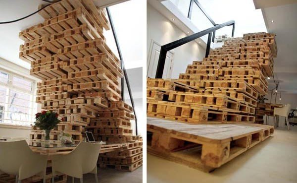 Brandbase s amsterdam office built from pallets for Design agencies amsterdam