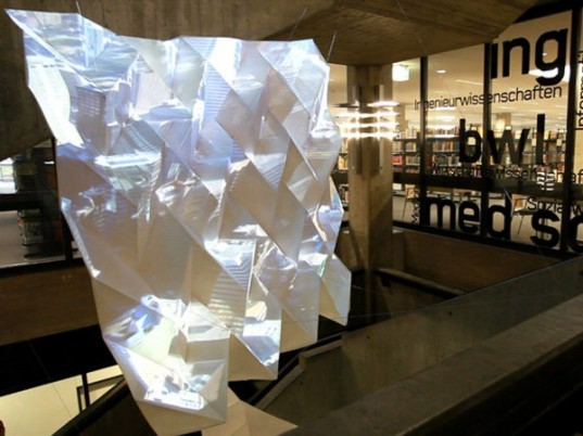 Video installation,art installation,folded paper,Bremen university,german design, Recycling / Compost,green Interiors,Decorative Objects,