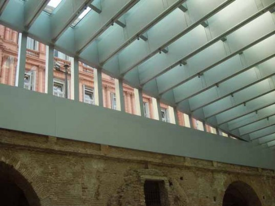 Politics,Green renovation,Green Lighting,Daylighting,Art,argentine history,argentine design,LED lighting,natural light,brick ruins,interactive technology,