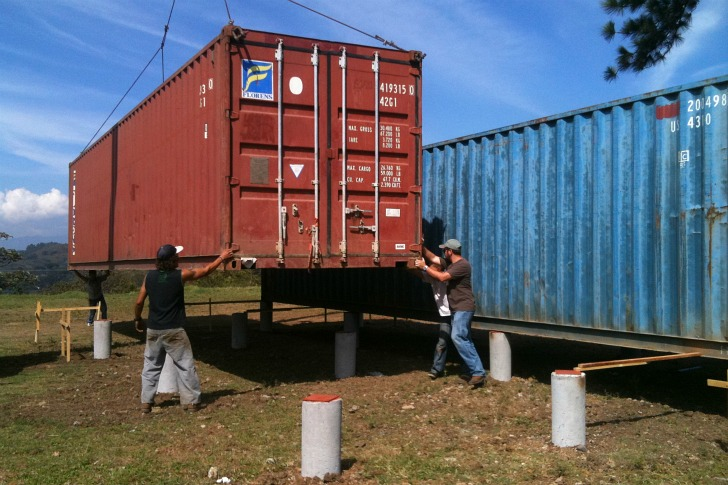 Containers of hope cool costa rican shipping container house only costs 40 000 inhabitat - Foundations for shipping container home ...