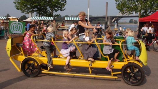 Kinetic Energy,Green Transportation,pedal powered vehicles,kids vehicle,dutch design,school bus