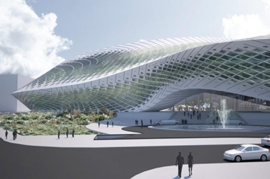 green technology,Eco Travel,Botanical,Architecture,future architecture,green rainforest architecture,emergent architecture,beijin international airport,beijin china,thermal pipes,rainwater collection system,luxury hotel,plastic dome,tom wiscombe,