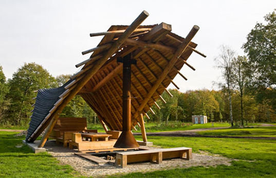 green design, eco design, sustainable design, Bureau Buitenom, Faro Architecten, The Netherlands, campground, Dutch National Forest Service, Kijl Schoonoord Campsite