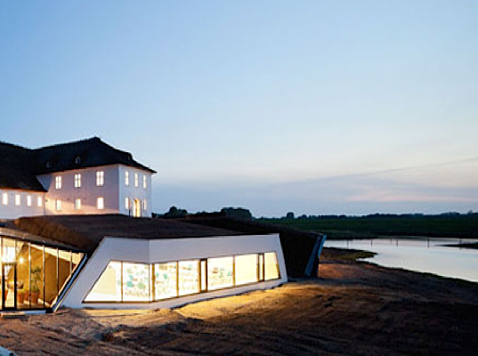 SeARCH architects, Favrholm Danish Farmhouse, 14th Century, Insulin factory, restoration project, energy efficiency, green design, eco-design, sustainable design, clean energy, embankments
