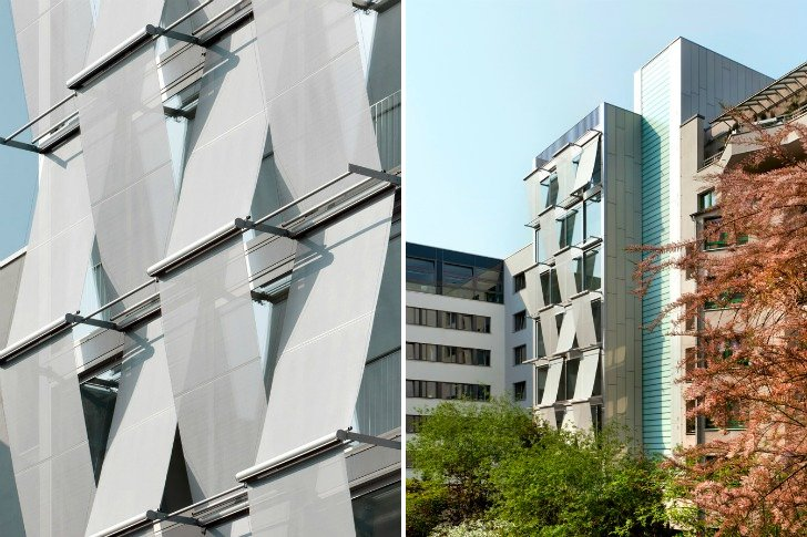 Berlin Office Building Features Two Different High Performance Facades  Inhabitat  Green Design Innovation Architecture