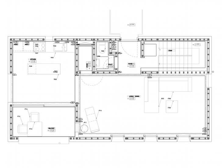 Integer bamboo house the world s first multi story for Bamboo house design and floor plan