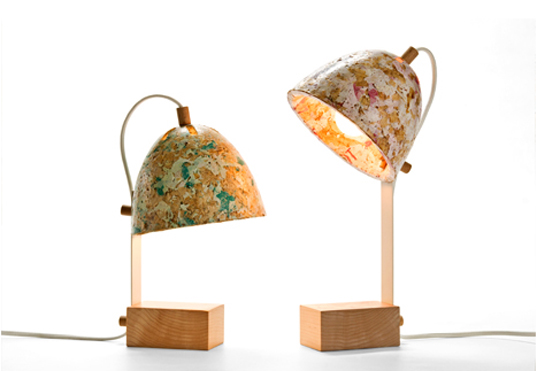 green design, eco design, sustainable design, Kulla Design Studio, 50% Sawdust Lamp, upcycled plastic, upcycled sawdust, new materials, Israeli design