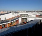 Beautiful Green Roofed School Rises Like a Hill in Créteil, France
