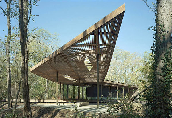 The Ruth Lily Visitors Pavilion Meshes Art Architecture
