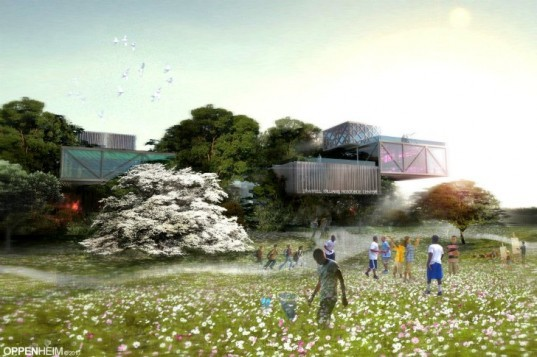 Pharrell Williams Resource Center, Oppenheim Architecture, pharrell williams, youth center, treehouse, chad oppenheim