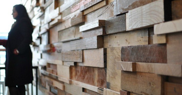 Cozy Slowpoke Espresso Cafe Walls Lined With Recycled Timber Offcuts Inhabitat Green Design