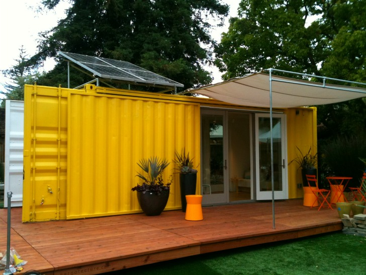 Sunset Idea House: Hybrid Architecture's Yellow Shipping Container Home  Shows Off Small Space Living | Inhabitat - Green Design, Innovation,  Architecture, ...