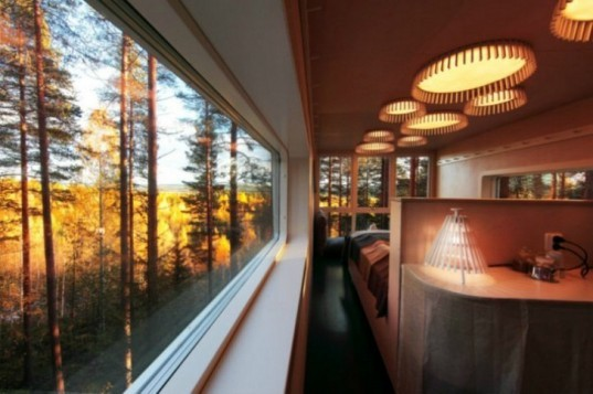 The Cabin, Cyren Cyren, Tree Hotel, prefab, treehouse, sweden, eco toursim