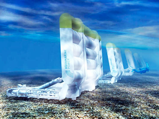 wave energy, Oyster Wave energy converter, oyster aquamarine power, wave power oyster, orkney islands wave power, barge oyster aquamarine, aquamarine power wave energy