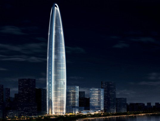 Wuhan Greenland Center, AS+GG, eco tower, skyscraper, wuhan, china, aerodynamic profile