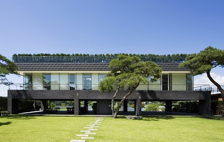 Green Roofed Floating House By Hyunjoon Yoo Is Feng Shui Approved