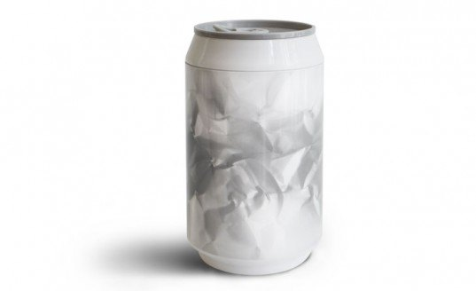 Haoshi, aluminium, PLA, biodegradable, can, container, beverage, sustainable deisgn, green design, green product, greenwashing, sustainable industrial design, green soda can, green beverage container, biodegradable can, aluminum can, tin can
