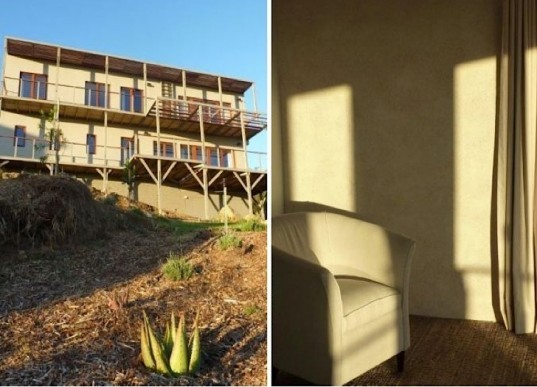 House in South Africa made out of hemp, inside and out