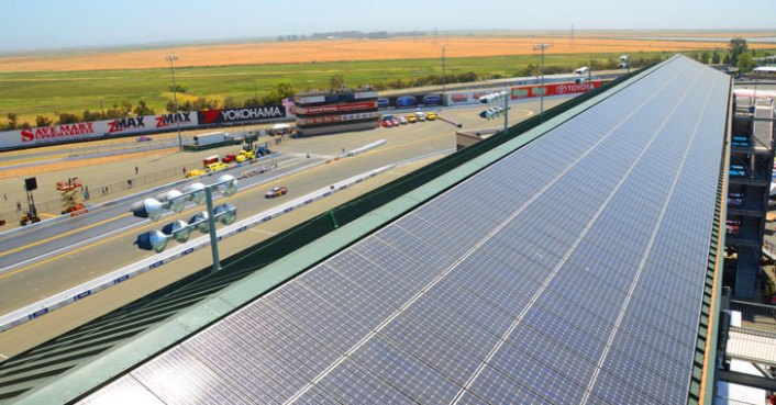 Solar Panel Installation at Infineon Raceway by Panasonic