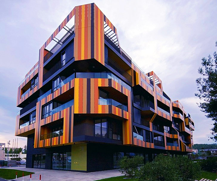 Apt Complex: Ofis' Colorful Lace Apartment Complex Is Wrapped In A Sun