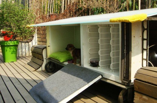 y-town, green design, eco design, sustainable design, recycled refrigerators, Huangpu River, SHanghai, dog house, recycled dog house, Chuichui,
