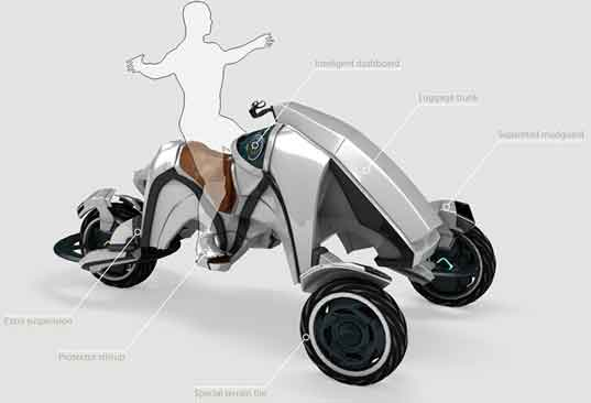 Attila Tari, Saddle Concept, Saddle Trike, electric tricycle, electric bike, EV, electric vehicle, concept vehicle, green automotive design, green transportation, alternative transportation