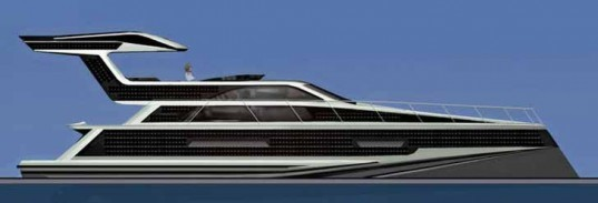 Emax Excalibur, Carbon Neutral Solar Hybrid Yacht, plug-in yacht, Ned Ship Group, Sauter Carbon Offset Design, green boat, alternative transportation, green transportation, hybrid yacht, solar diesel hybrid boat