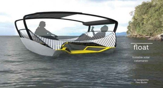Jeffrey Greger, Float Solar Catamaran, solar boat, green transportation, alternative transportation, foldable boat