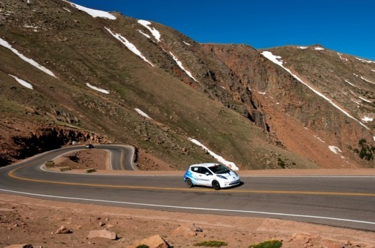 Nissan LEAF, Pike's Peak, LEAF Pike's Peak Electric Class Champion, Pike's Peak Electric Production Class, electric car, electric race car, electric vehicle, PHEV, green automotive design, alternative transportation, green transportation