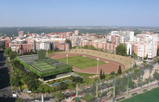 green design, eco design, sustainable design, Madrid, ABM Arquitectos, Vallehermoso Sports Center, solarium, sports complex, stadium