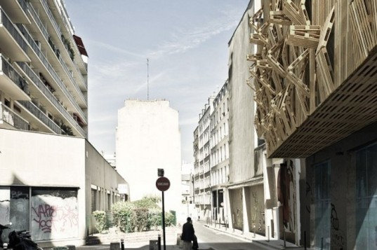 AME-LOT, Malka Architects, Student Housing, Paris, pallets, green materials, found materials, recycled materials, green design, sustainable design, eco-design, existing materials