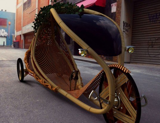 bamboo bike, bamboo car, bamboo vehicle, green car, green bike, green vehicle, eco bike, eco car, eco vehicle, bamboo bicycle, green transportation, eco transportation, sustainable transportation