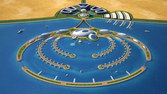 Qatar resort, Qatar ocean development, aquatic building design, artificial islands, floating buildings, Giancarlo Zema Design Group, Green Building, sinking developments, submerged hotel, underwater hotel