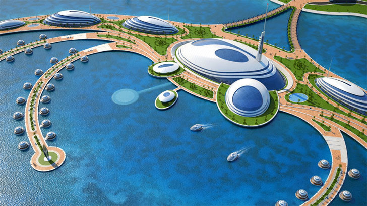 Floating Resort On Artificial Island Represents Best And Worst In