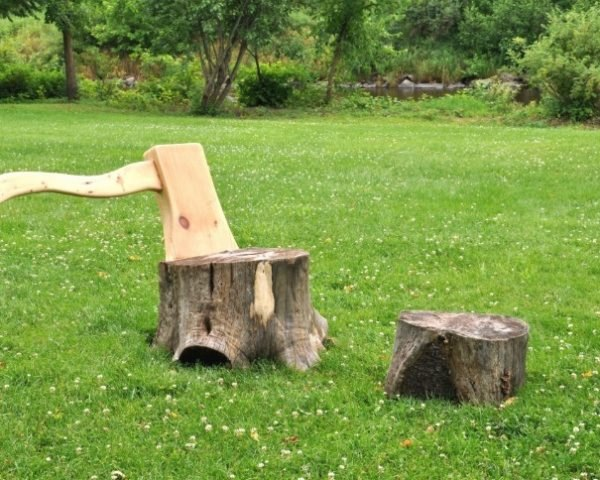 Axe And Stump Lounge Chair Gives New Life To Upturned Tree Trunks    Inhabitat   Green Design, Innovation, Architecture, Green Building