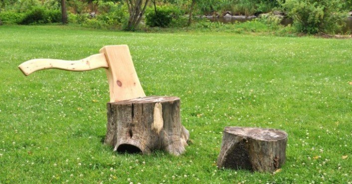 Axe And Stump Lounge Chair Gives New Life To Upturned Tree Trunks |  Inhabitat   Green Design, Innovation, Architecture, Green Building