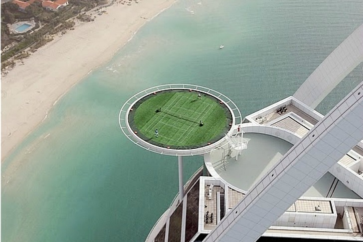 Worlds Highest Tennis Court Green Roof Built Atop The