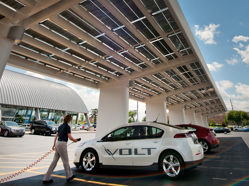 Chevy Dealerships Install Solar Green Zones Capable Of