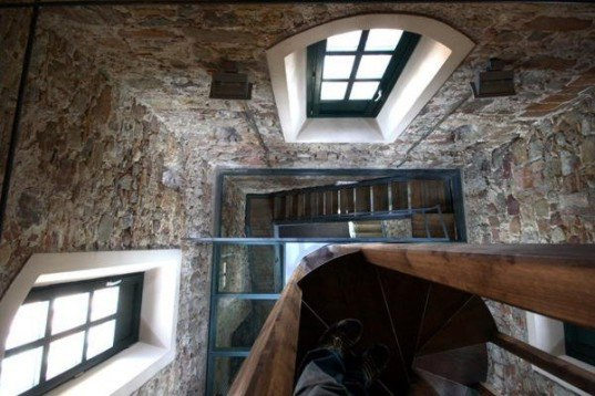 to.bo, green renovation, day lighting,century's old home conversion, eco renovation, glass floor, Converted Spanish Manor, defense tower, eco retrofit, green retrofit, spainish retrofit, spanish architecture