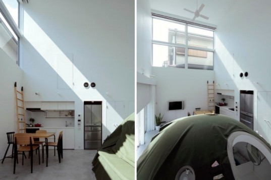 Ground and Above Roof House, SPACESPACE, bunker bathroom, osaka, japan, eco residence, solar passive design