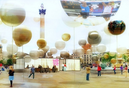 London Olympic Games Information Pavilion, design competition, recycled materials, london olympics, temporary paviliona