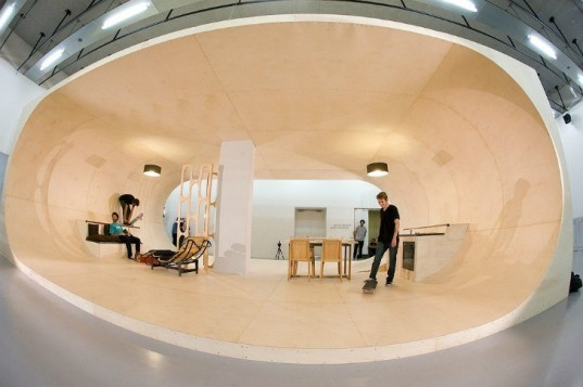 PAS House, Air Architecture, Pierre Andre Senizergues, skateboarding, skate house, fracois perrin, eco home,