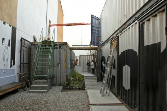 The Periscope Project, cargotecture, shipping containers, gallery space, exhibition space, art studios